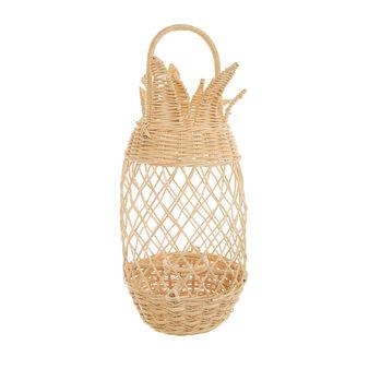 Hand-woven rattan lantern
