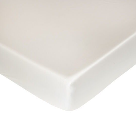 Fitted sheet in TC400 satin cotton