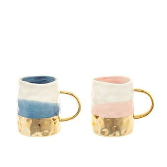 Two-tone porcelain mug