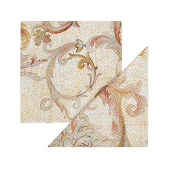 2-pack napkins in 100% cotton with medallion print