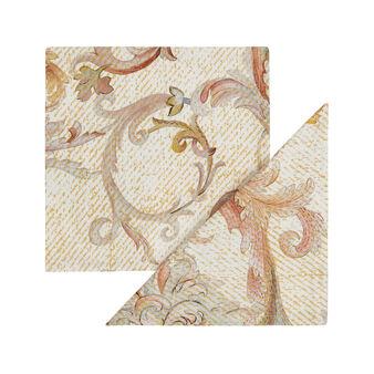 Set 2 tovaglioli puro cotone stampa fregio