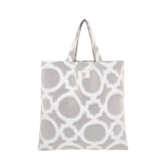 Shopper in cotone fantasia astratta
