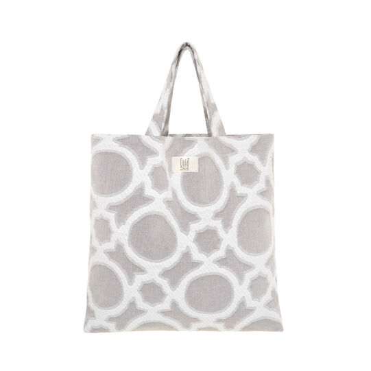 Cotton shopping bag with abstract pattern