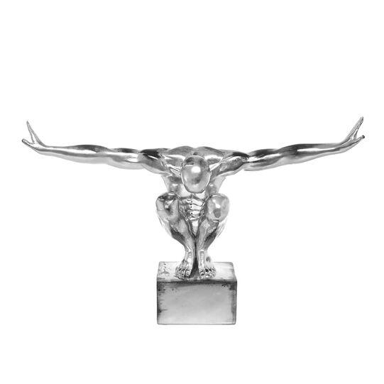 Statua atleta rifinita a mano