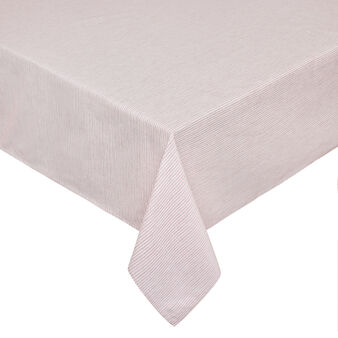 100% cotton tablecloth with striped motif