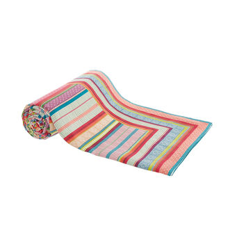 100% cotton striped throw