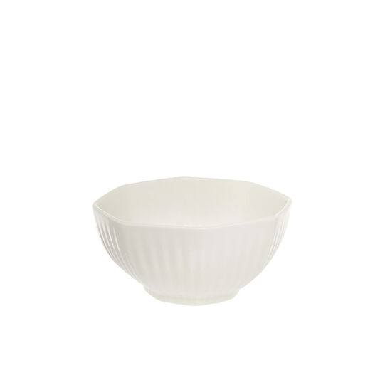 Small striped porcelain bowl