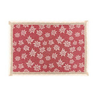100% cotton table mat with edelweiss and lace border