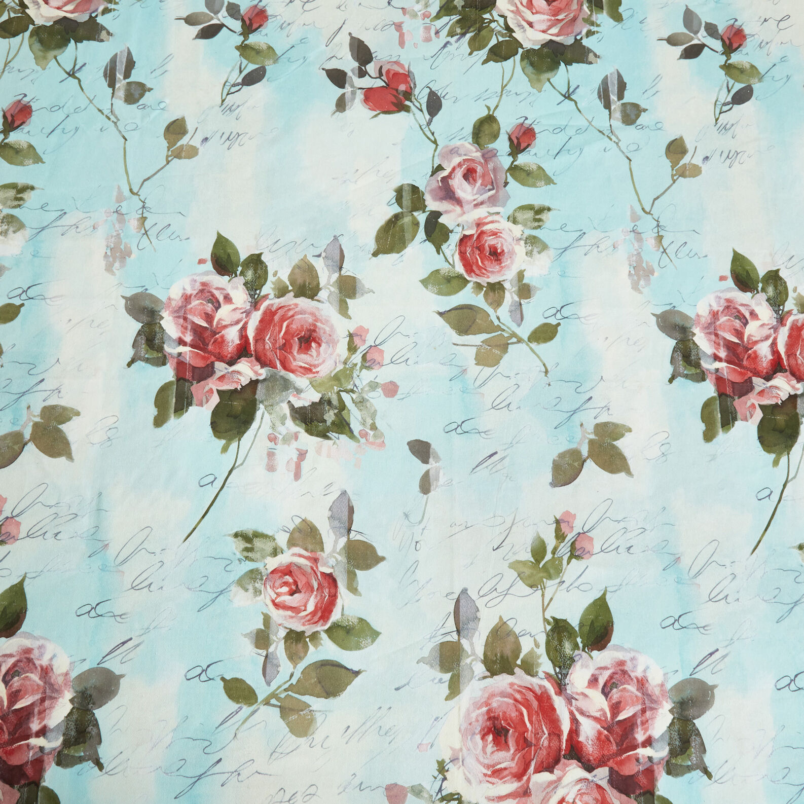 Tovaglia twill di cotone stampa rose
