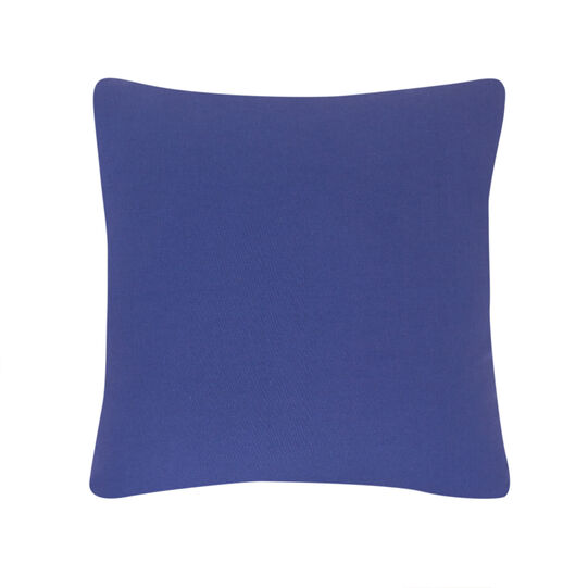 Cushion in 100% cotton with knot embroidery