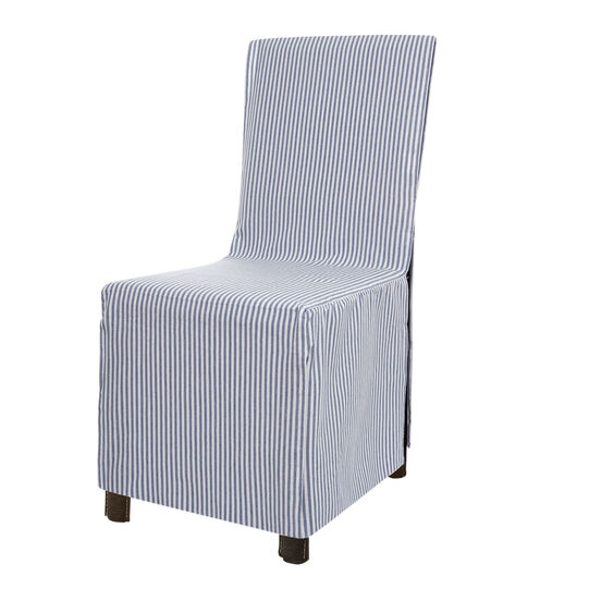 Set of 2 chair covers in 100% striped cotton