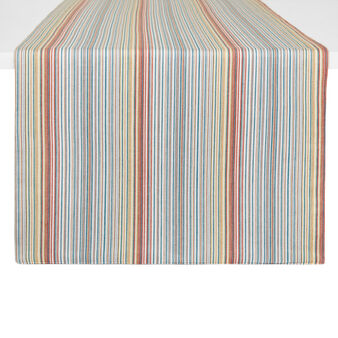Striped table runner in 100% cotton