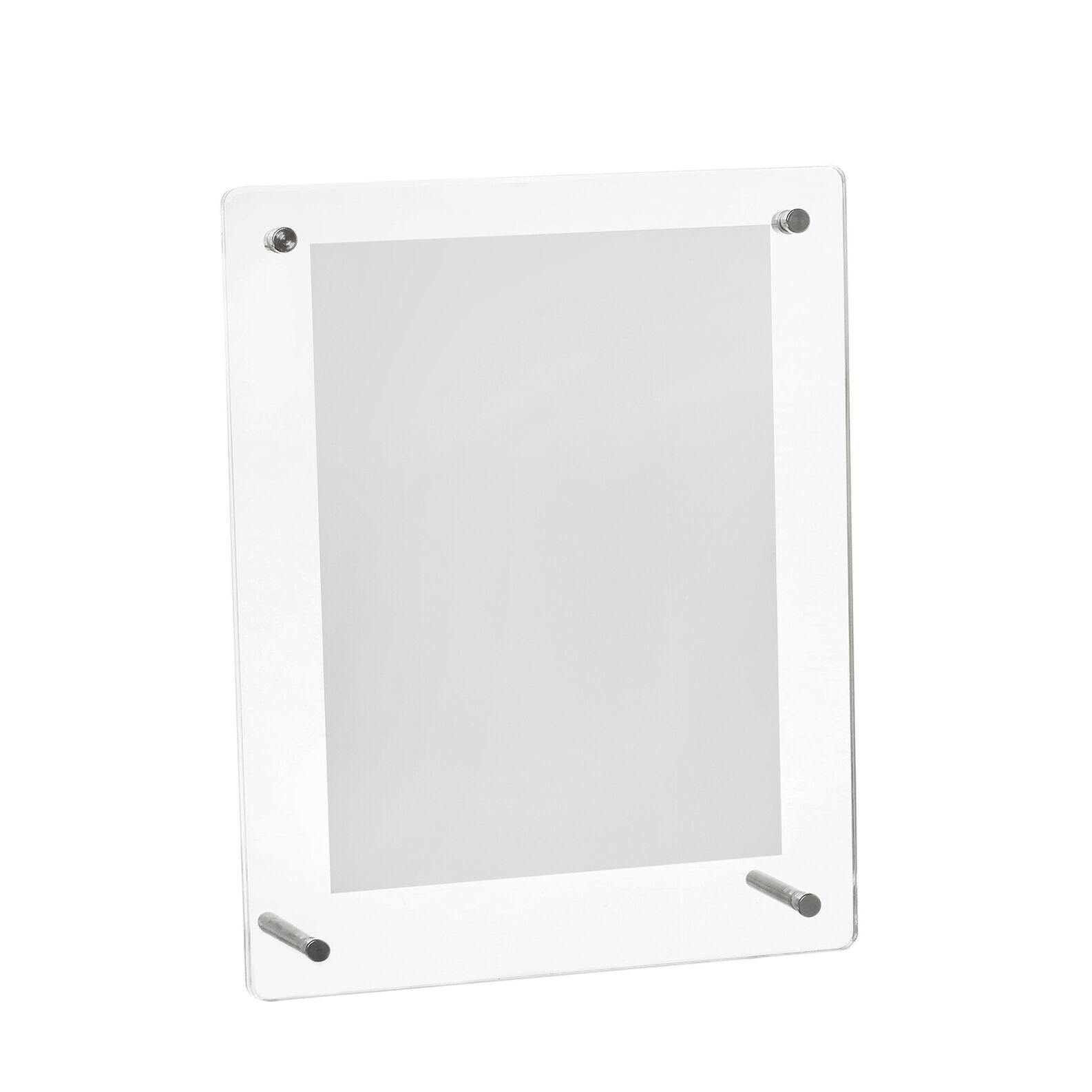 Transparent photo frame with profile