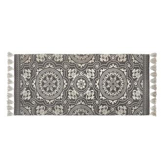 Kitchen mat in cotton blend with lurex stripes