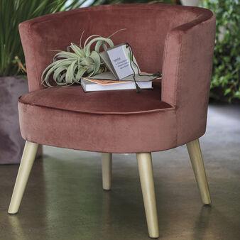 New Juju velvet armchair