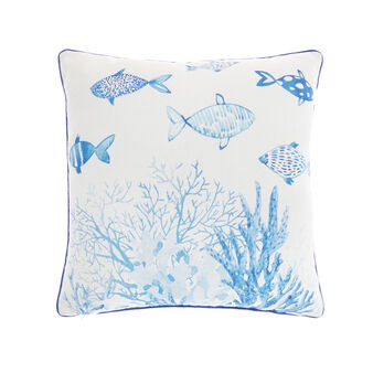 Fish print cushion