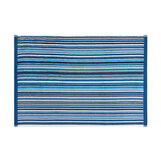 Cotton velour towel with striped pattern