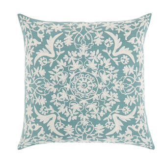 Cushion with floral embroidery 45x45cm