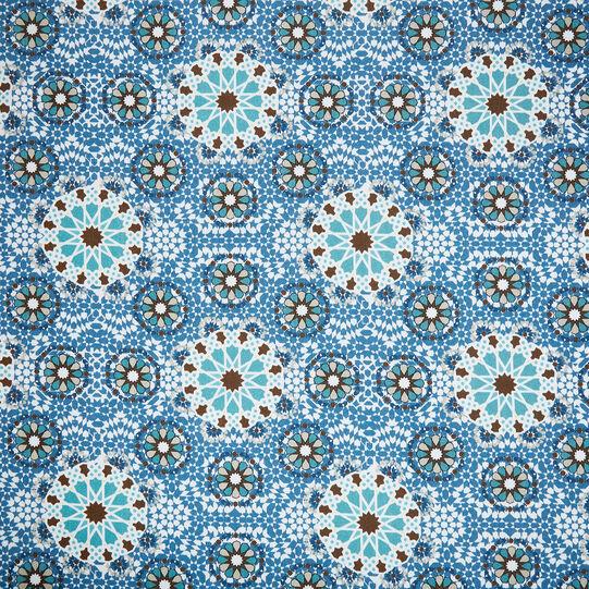 Mosaic print cotton beach towel
