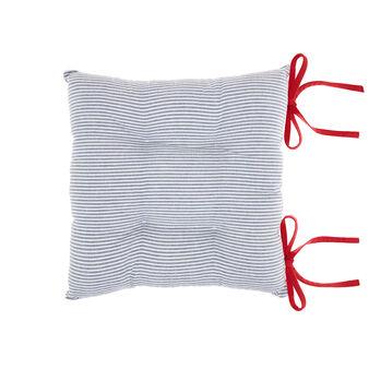 Cuscino da sedia puro cotone a righette