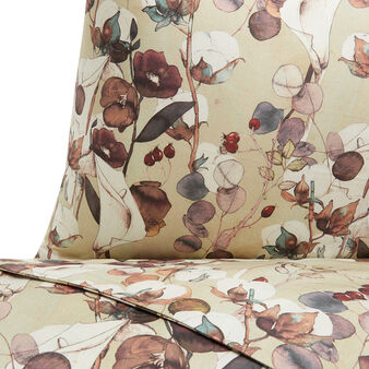 Cotton percale duvet cover with cotton flower pattern