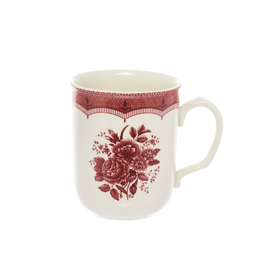 Victoria ceramic mug with floral decoration