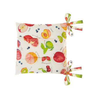 Seat pad with fruit