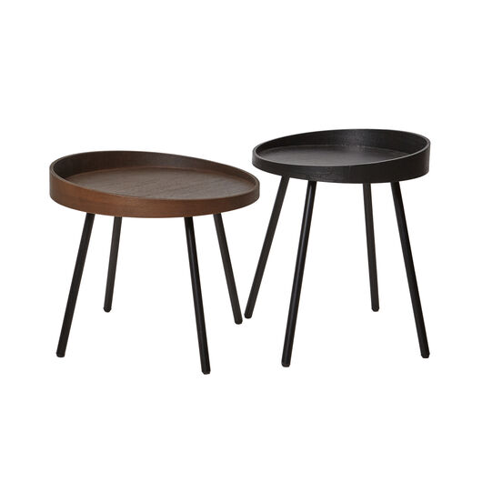 Couple set of 2 coffee tables in MDF
