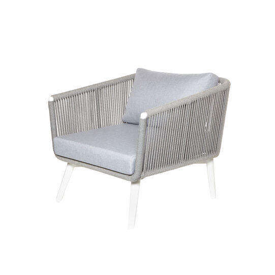Maldives chair in rope and aluminium