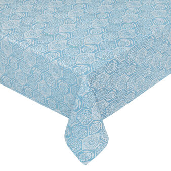 100% cotton jacquard tablecloth with mosaic motif