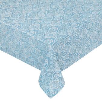Tovaglia puro cotone jacquard motivo mosaico