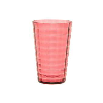 Faceted plastic drinking glass
