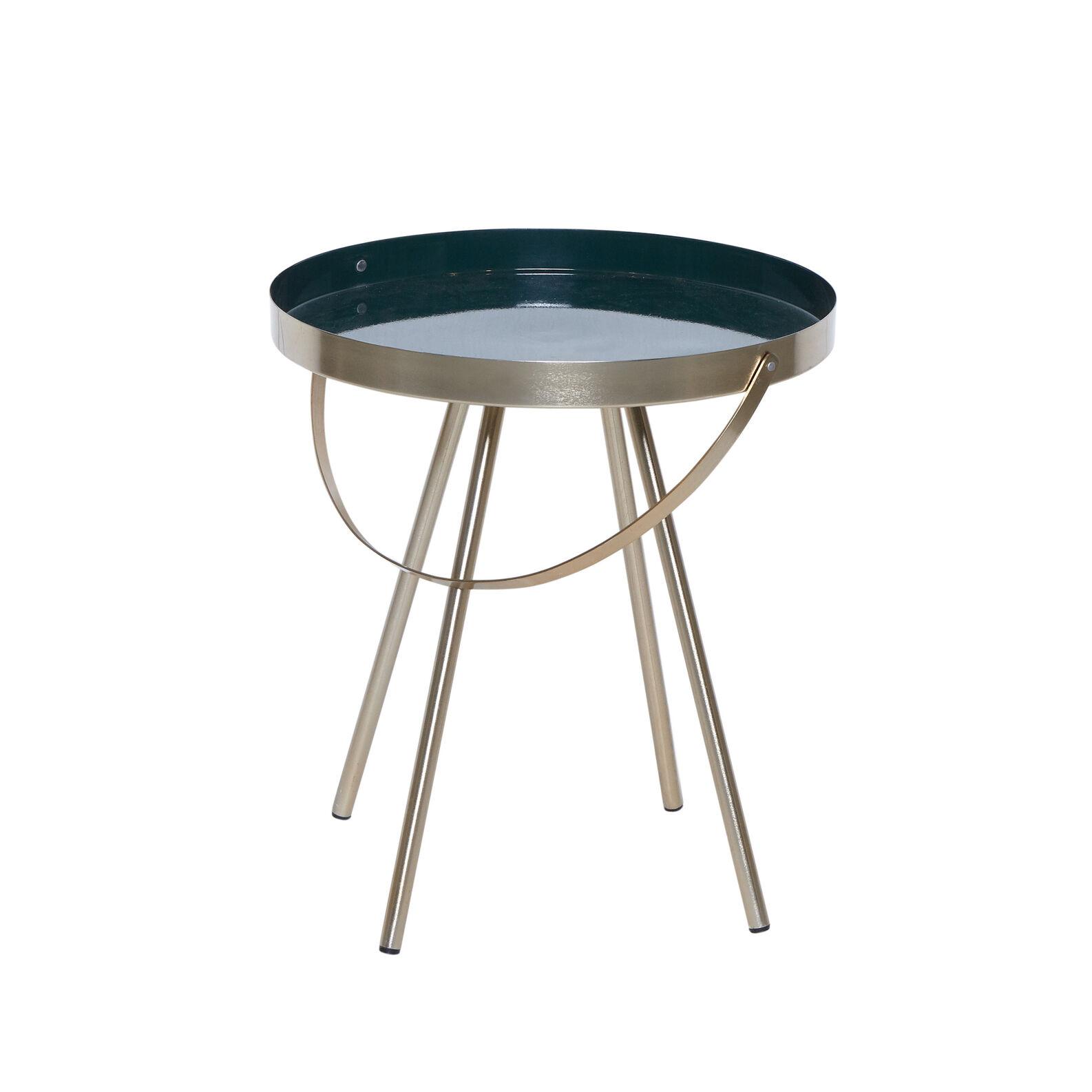 Tavolino metallo finitura ottone Mytray