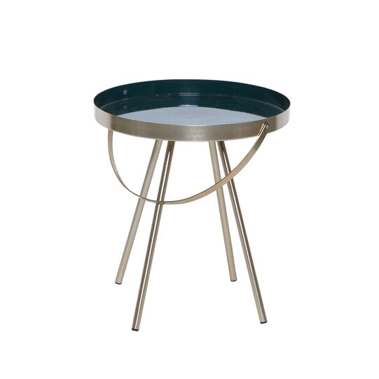 Mytray coffee table in metal with brass finish