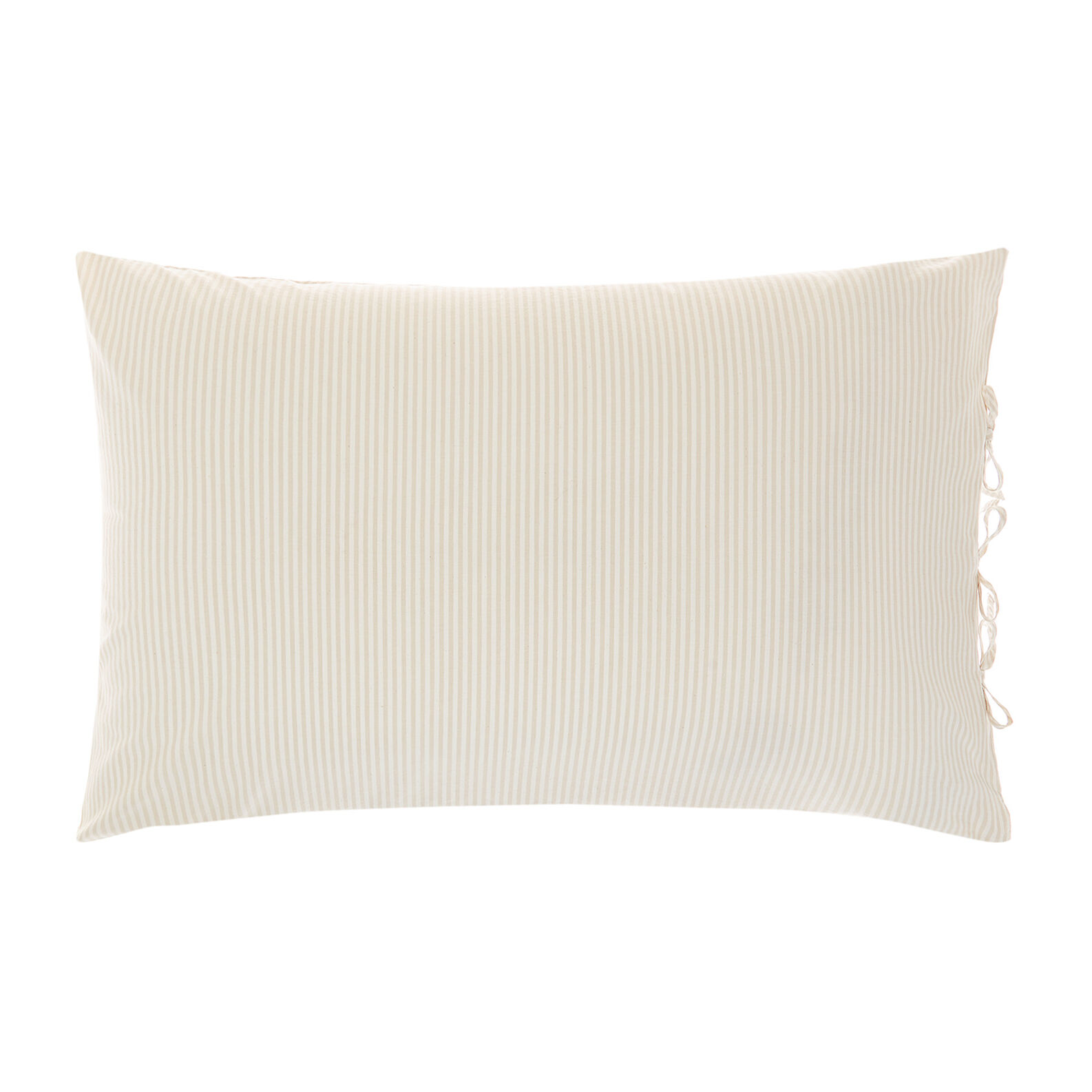 Yarn-dyed striped cotton pillowcase
