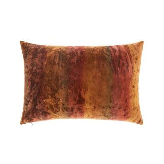 Textured velvet cushion 35x55cm