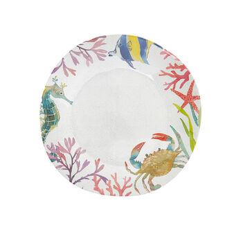 Melamine plate with fish motif