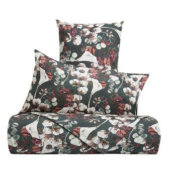 Completo lenzuola cotone percalle fantasia fiori di cotone