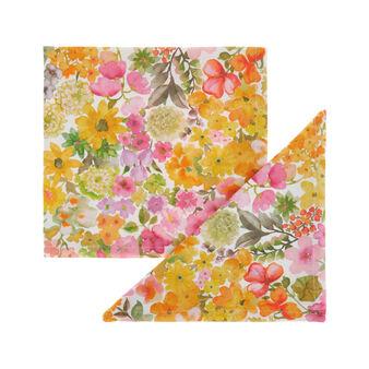 Set 2 tovaglioli puro cotone stampa fiorellini