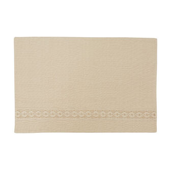 100% cotton and lace table mat
