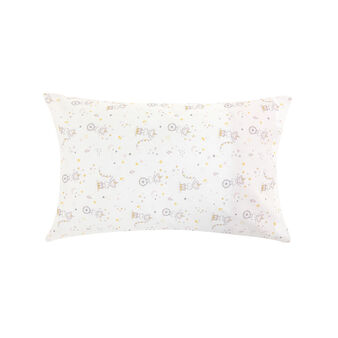 100% cotton percale pillowcase with girl mice and polka dots