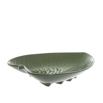 Leaf-shaped porcelain bowl