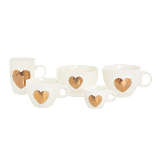Jumbo New Bone China cup with heart