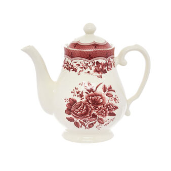 Victoria ceramic teapot with floral decoration