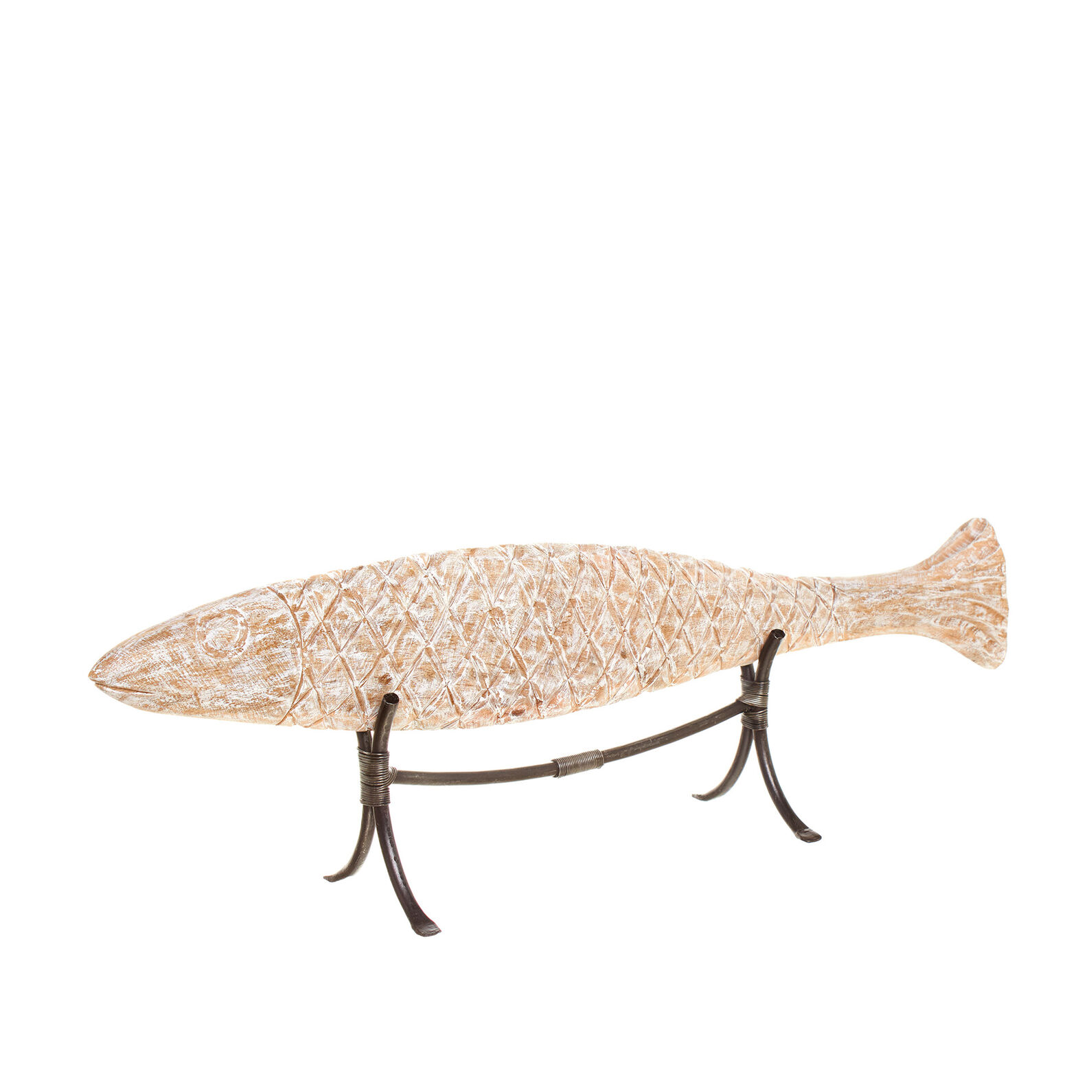 Hand carved wood fish