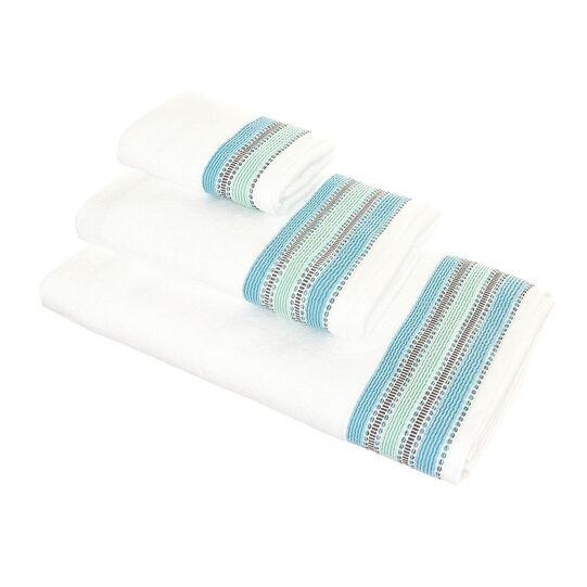 Asciugamano puro cotone bordo rigato