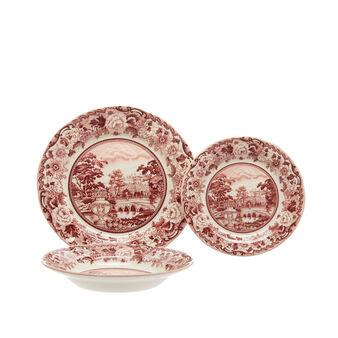 Set 18 piatti ceramica Belmont