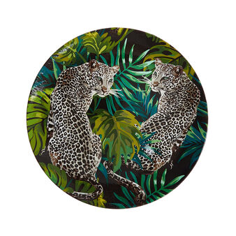 PVC charger plate with cheetah motif