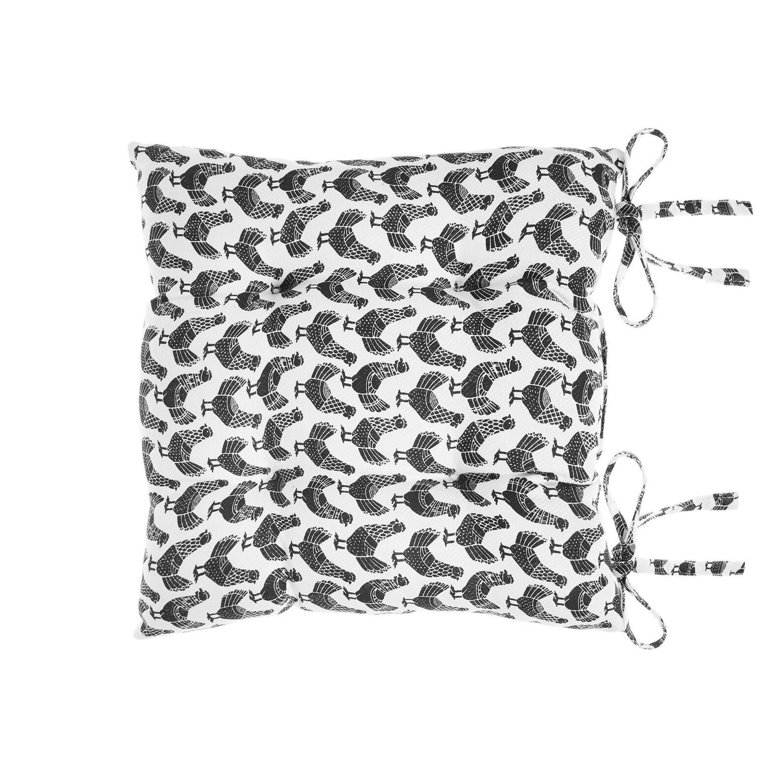 Cuscino da sedia puro cotone stampa galline
