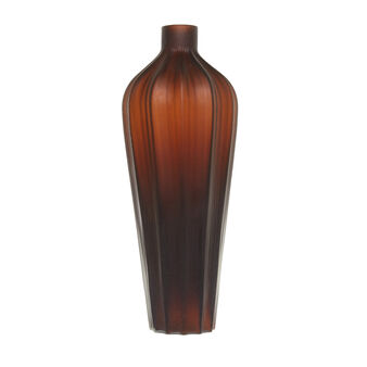 Handmade coloured glass vase